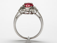 Load image into Gallery viewer, Brilliant Antique Ruby and Diamond Ring