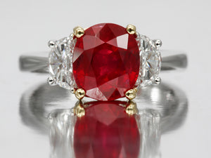 Timeless 3.66ct Ruby and Diamond Ring