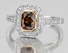 Load image into Gallery viewer, Bourbon Color Flanders Cut Natural Diamond Ring