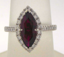 Load image into Gallery viewer, Deep Red Marquise Ruby and Diamond Ring