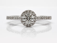 Load image into Gallery viewer, Dainty Seng Firey Diamond™ Halo Ring in White Gold