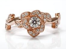 Load image into Gallery viewer, Flower Style Rose Gold Seng Firey Diamond™ Ring