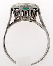 Load image into Gallery viewer, Antique Emerald Octagon Shaped Ring