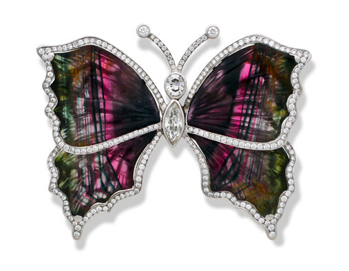 Breathtaking Tourmaline Butterly Pendant/Brooch