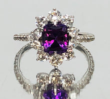 Load image into Gallery viewer, Vivid Violet Sapphire and Diamond Ring