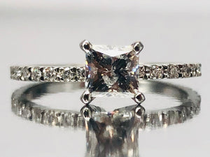 0.74ct Seng Firey Princess™️ Cut Diamond Engagement Ring