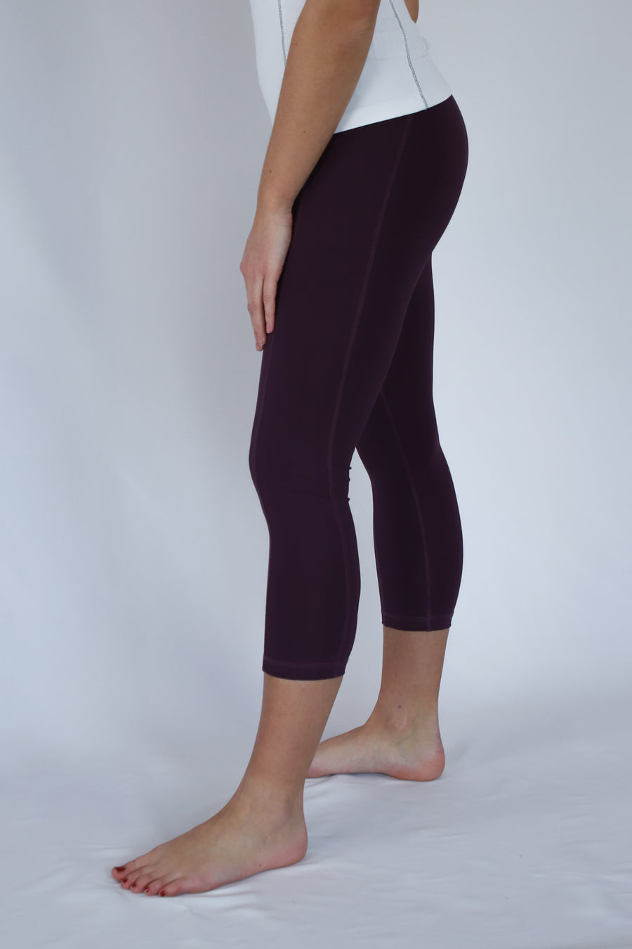 Capri Pants Polly red purple