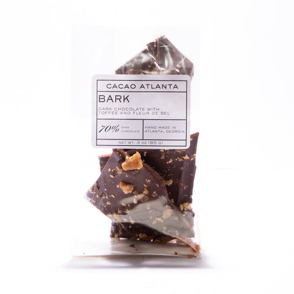 Dark Chocolate Bark with Toffee and Fleur de Sel