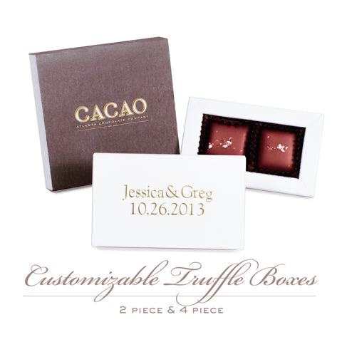 4 pc Customizable Chocolate Box