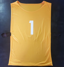 Load image into Gallery viewer, Bib - Set of 15 - Numbered 1-15 On Both Sides - gr8sportskits
