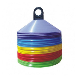 "Cones 2"" Flat - Set of 50 Mixed Colours - gr8sportskits"