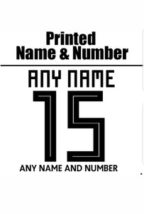 Printing - Name & Number Printed on Back of Shirt of Official Shirts - gr8sportskits