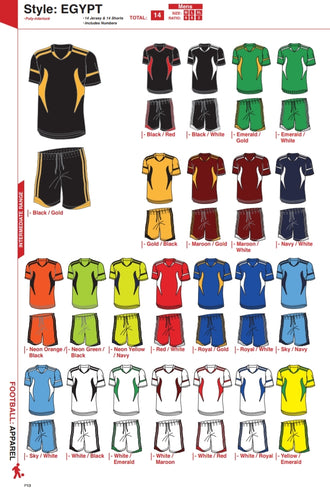Soccer Kit Combo Basic Set - Egypt Style