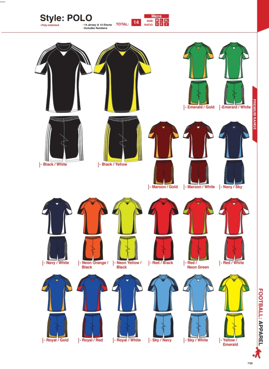 Soccer Kit Combo Basic Set - Polo Style - gr8sportskits