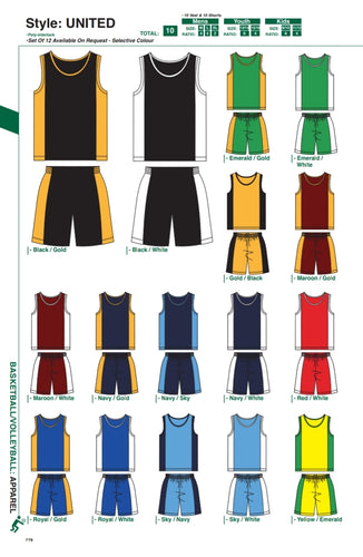 Basketball / Volleyball / Hockey United Style Kit