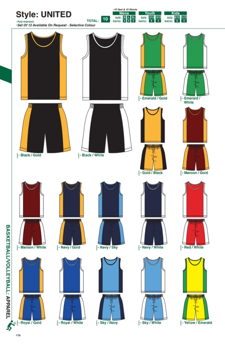 Basketball / Volleyball / Hockey United Style Kit - gr8sportskits