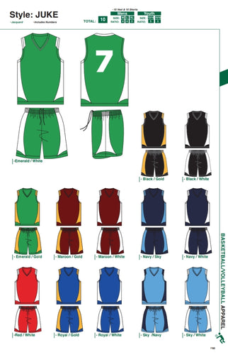 Basketball / Volleyball / Hockey Kit - Juke Style - gr8sportskits