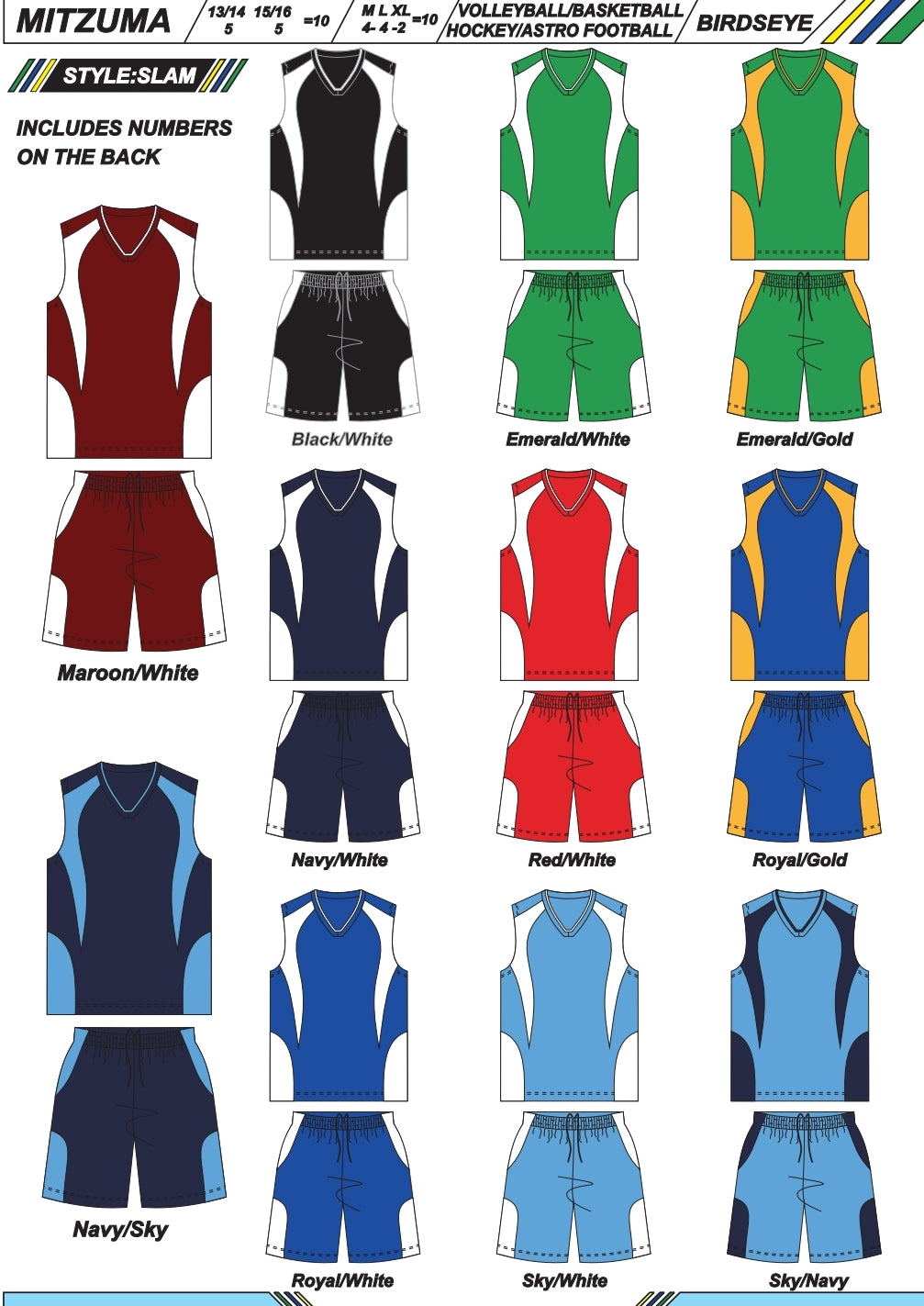 Hockey / Basketball / Volleyball / Astro Soccer Set Style Slam - gr8sportskits