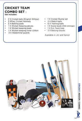 Cricket Equipment Team Combo