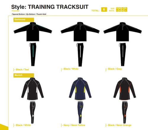 Tracksuits Training - Set of 6 - gr8sportskits