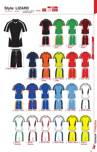 Soccer Kit Combo Basic Set - Lizard Style