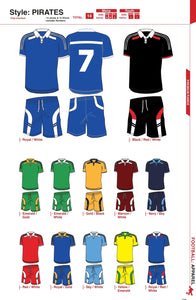 Soccer Kit Combo Basic Set - Pirates Style - gr8sportskits