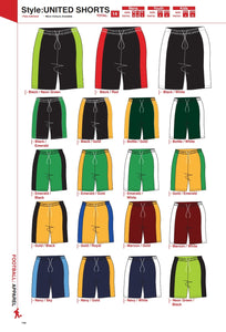 Shorts United Style - Soccer / Hockey (R60 each)