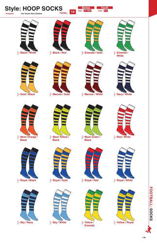 Socks Hoop - Soccer / Hockey (R45 per pair each)