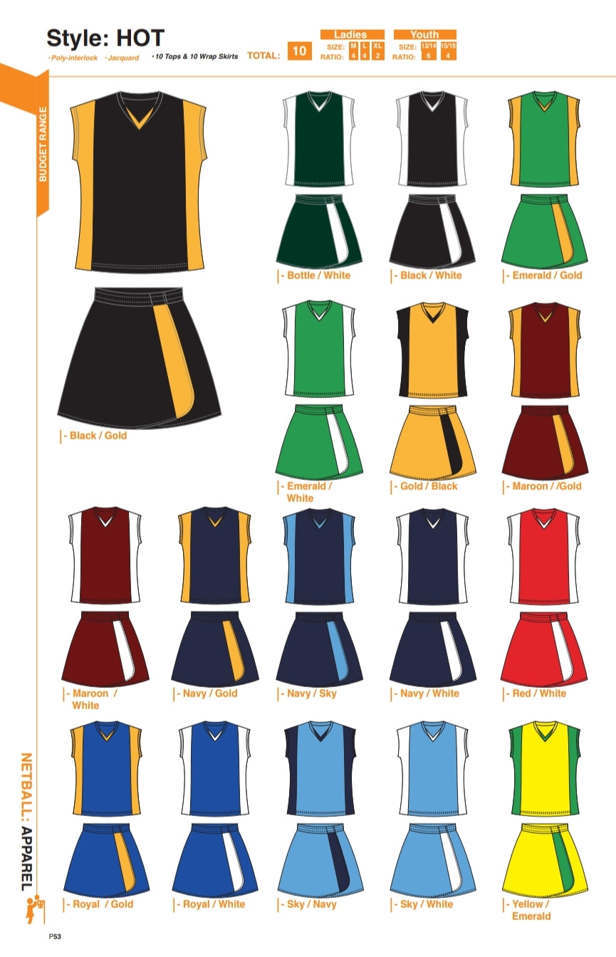 Netball / Hockey Hot Kit - gr8sportskits