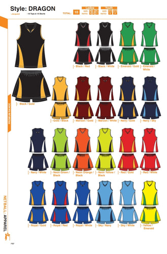 Netball / Hockey Dragon Kit - gr8sportskits