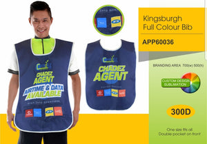Bib Kingsburgh with Pockets Sublimated