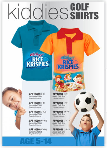 Golf T-shirt Kids Sublimated - gr8sportskits