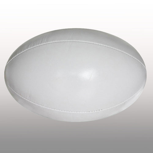 Rugby Ball White Size 5 - Ideal for Branding Your Logo On - gr8sportskits