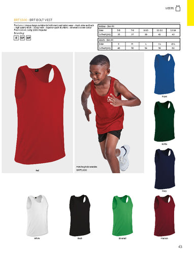 Athletic Bolt Vest