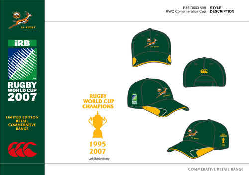 Springbok Rugby Cap - Limited Commemorative Edition