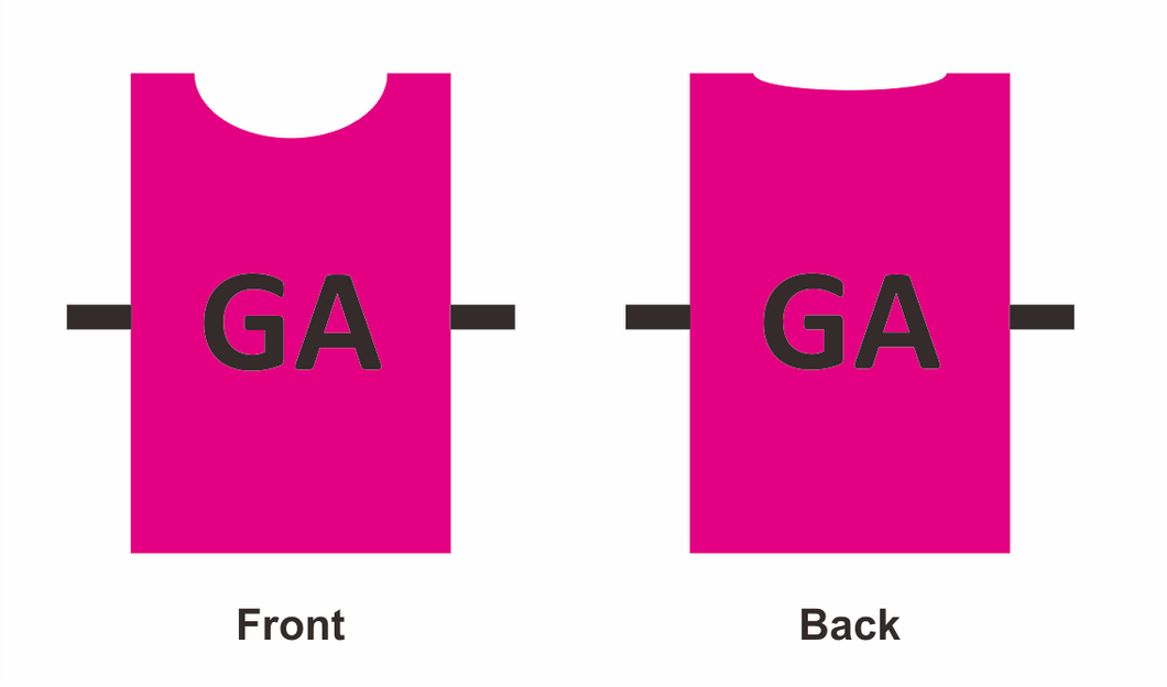 Bibs Netball GGBB01N - Set of 7 with positions on both sides - gr8sportskits