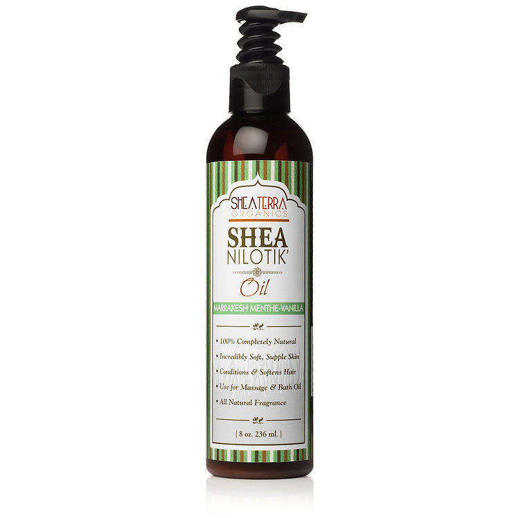 Shea Nilotik' Body Oil MARRAKESH MENTHE VANILLA