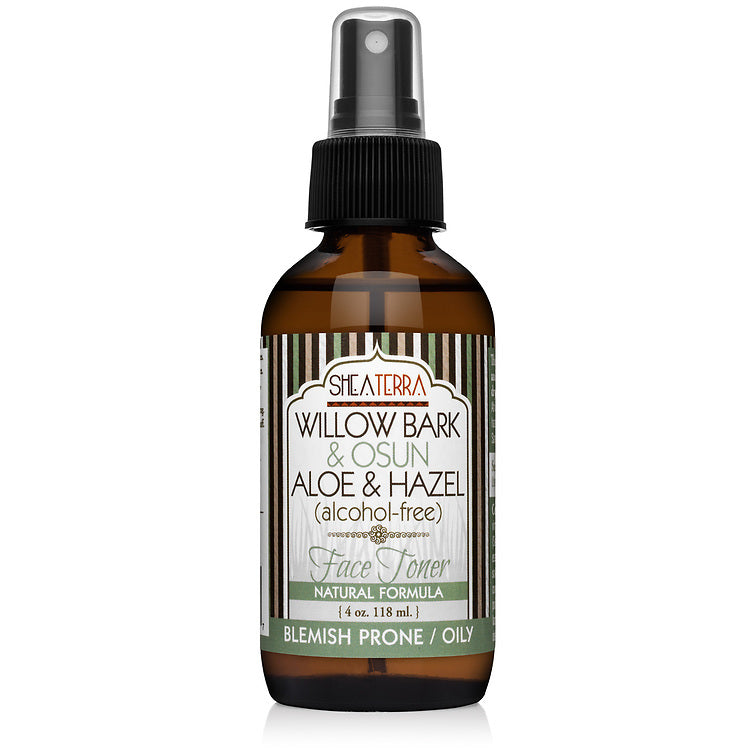 Willow Bark & Osun Aloe & Hazel (alcohol free) Face Toner (4 oz.)