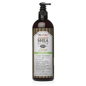 Shea Nilotik' Body Lotion FRAGRANCE FREE 16 oz