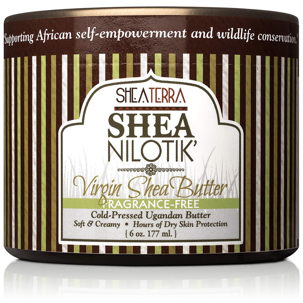 Shea Nilotik' Virgin Shea Butter Cold-Pressed FRAGRANCE FREE (6 oz.)