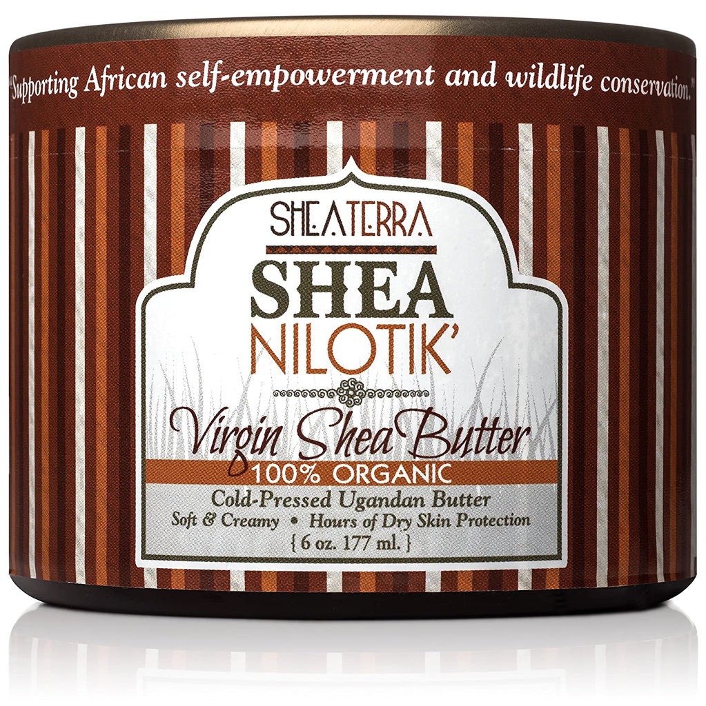 Shea Nilotik' Virgin Shea Butter Cold Pressed 6 oz. Fragrance Free