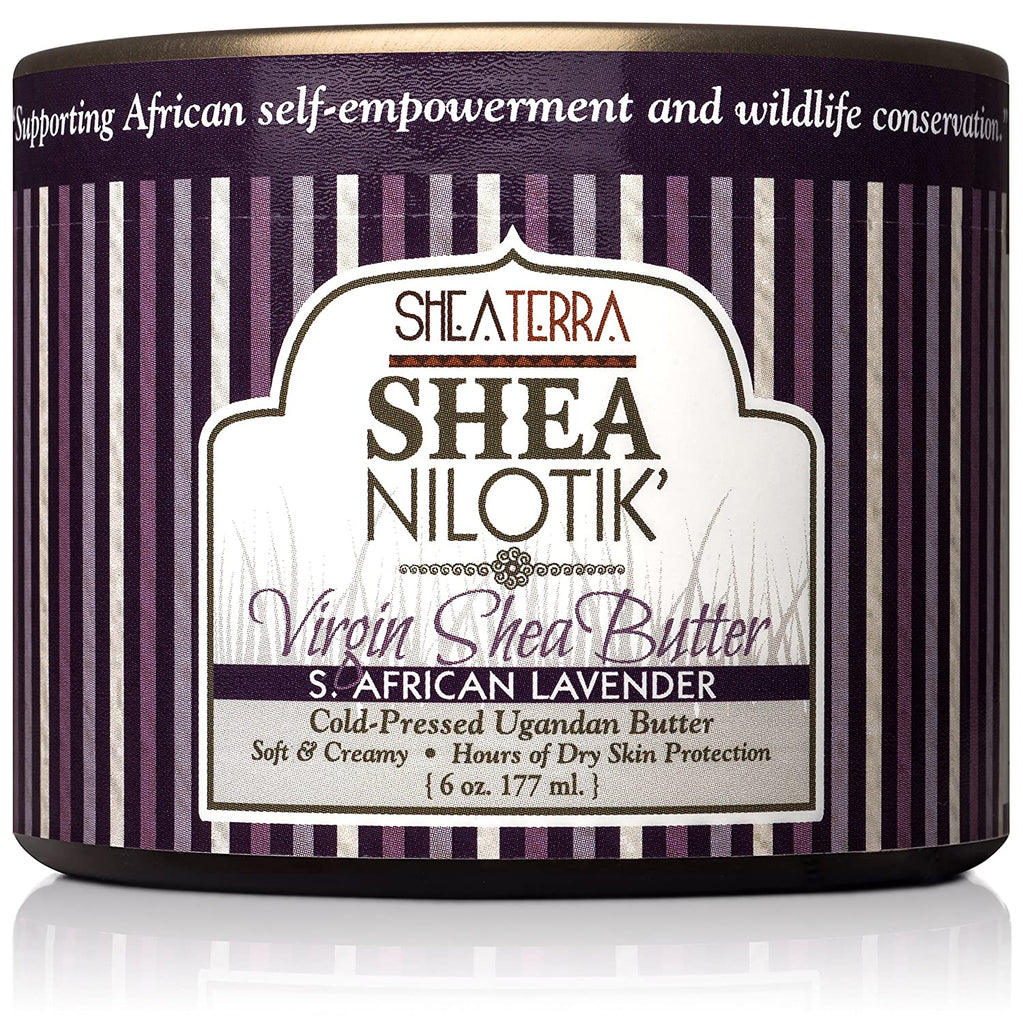 Shea Nilotik' Virgin Shea Butter Cold Pressed 6 oz. S. African Lavender