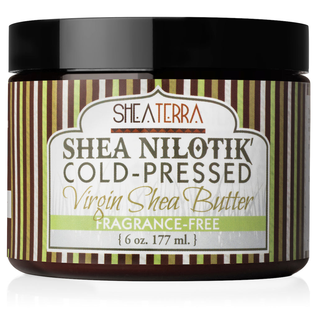 Shea Nilotik' Cold-Pressed Virgin Shea Butter FRAGRANCE FREE  (6 oz.)
