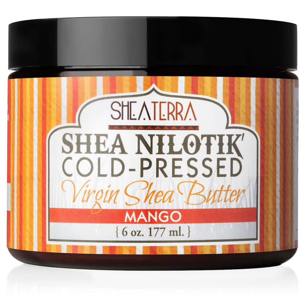 Shea Nilotik' Cold-Pressed Virgin Shea Butter MANGO  (6 oz.)