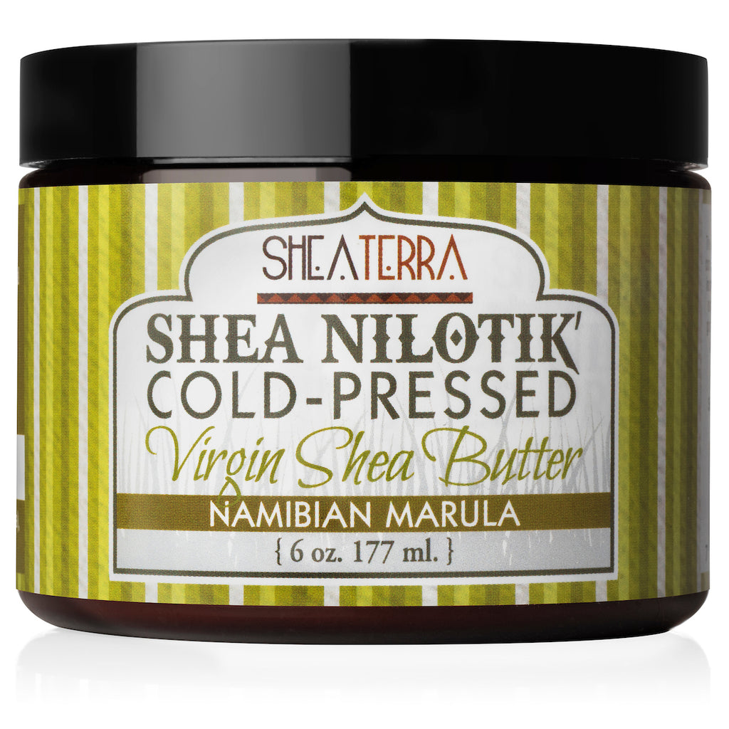 Shea Nilotik' Cold-Pressed Virgin Shea Butter NAMBIAN MARULA  (6 oz.)