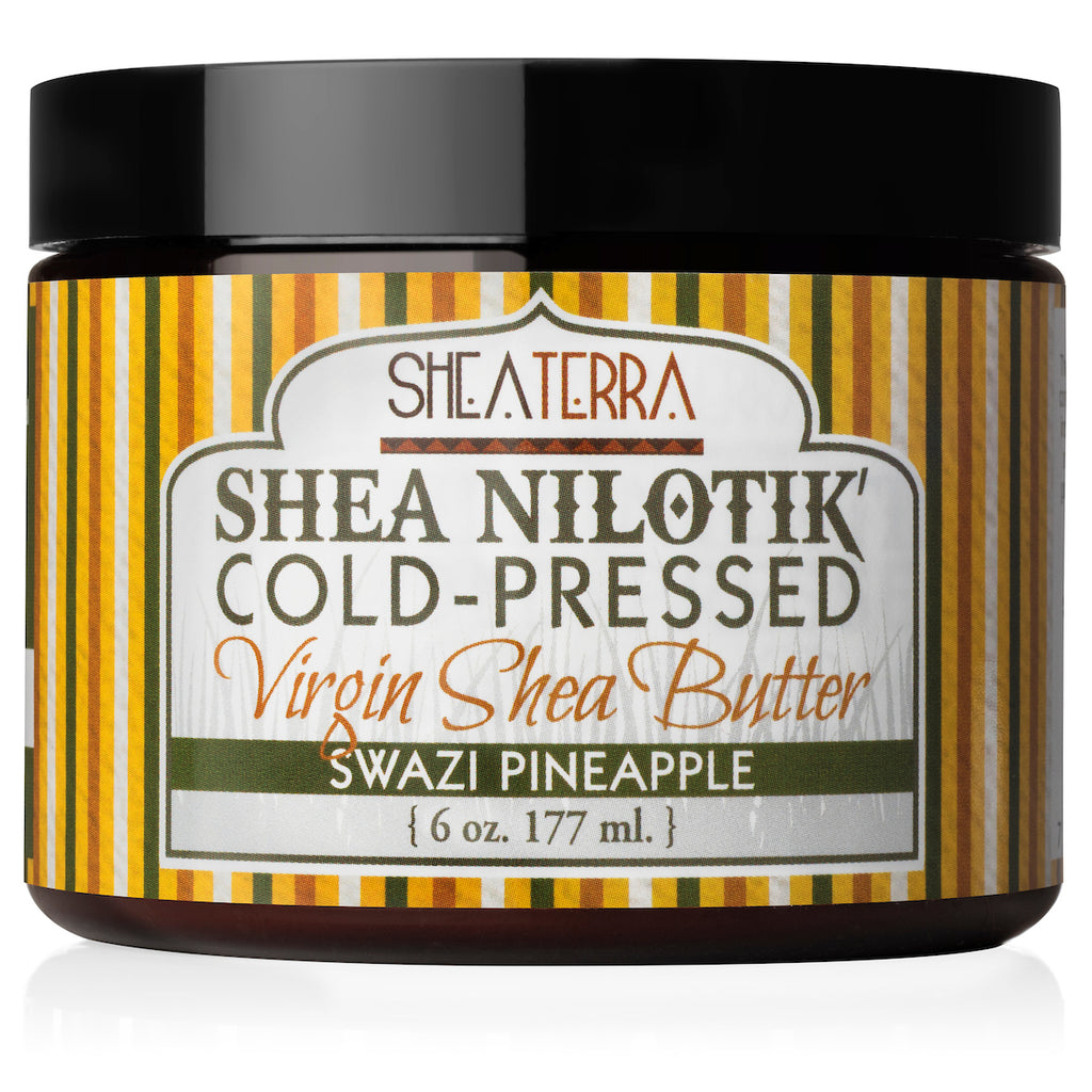 Shea Nilotik' Cold-Pressed Virgin Shea Butter SWAZI PINEAPPLE  (6 oz.)