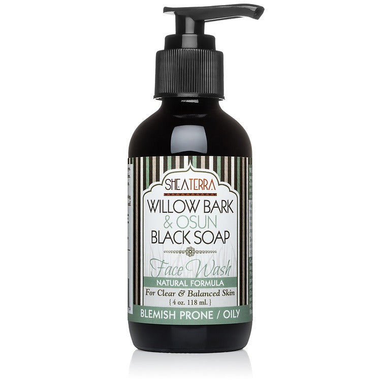 Willow Bark & Osun Black Soap Face Wash (4 oz.)