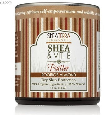 Shea & Vitamin E. Butter ROOIBOS ALMOND 4oz
