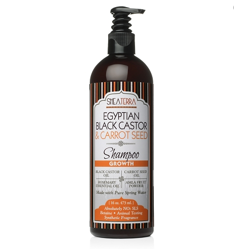 Egyptian Black Castor & Carrot Seed Natural Shampoo (GROWTH)