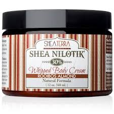 Shea Nilotik' Body Cream ROOIBOS ALMOND (12oz)